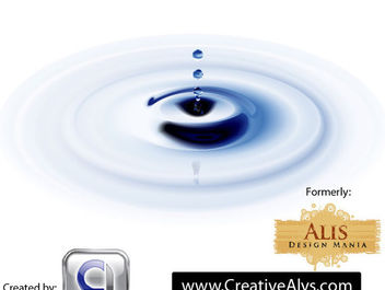 Realistic Blue Water Ripples - Free vector #181923