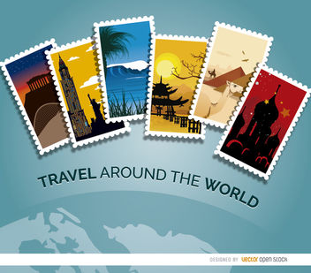 Planet travel elements - Kostenloses vector #181983