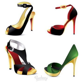 High Heel Ladies Shoes - Kostenloses vector #181993