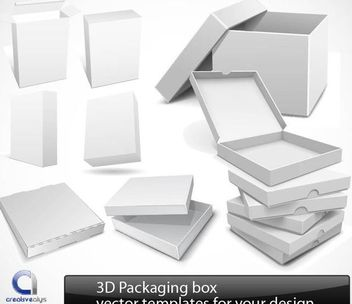 Glossy Detailed 3D Packaging Set - Free vector #182033