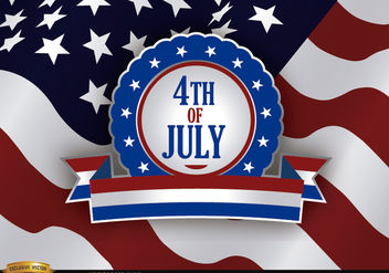 4th of July Independence Day - vector gratuit #182223
