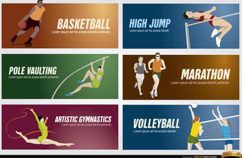 Olympic sports banners - Free vector #182263