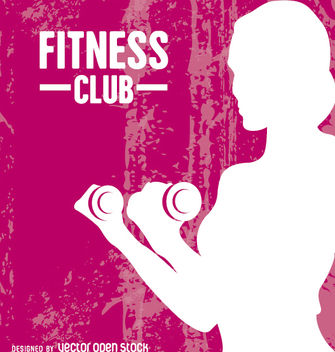Fitness woman grunge - vector gratuit #182293