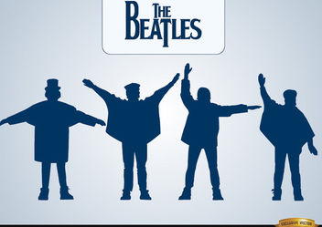 The Beatles Help silhouettes - Free vector #182343
