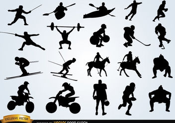 Sport silhouettes pack - Free vector #182403