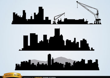 Cityscapes construction - vector gratuit #182413