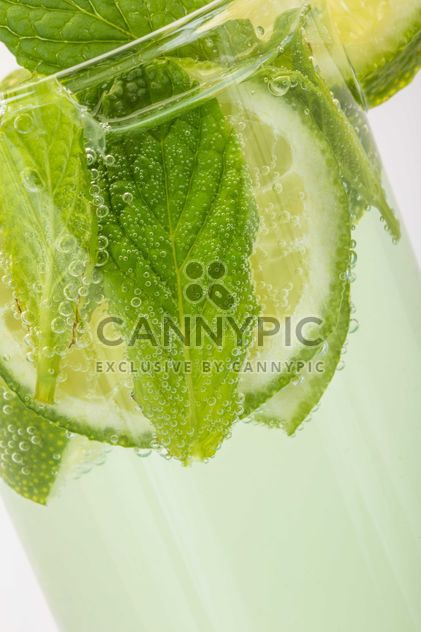 Soft drink with mint and lime - Free image #182963