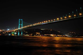 Bosporus Bridge at night - бесплатный image #183043