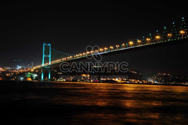 Bosporus Bridge at night - Free image #183043