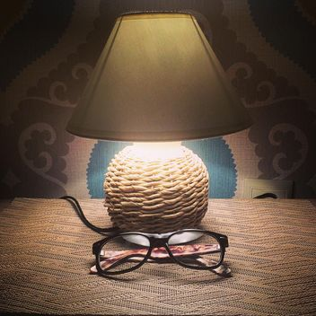 Night lamp and glasses - Free image #183273