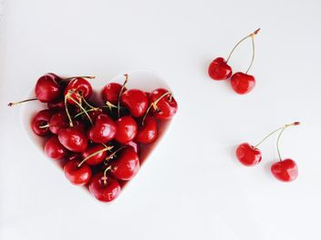 Cherries in a plate - image gratuit #185683