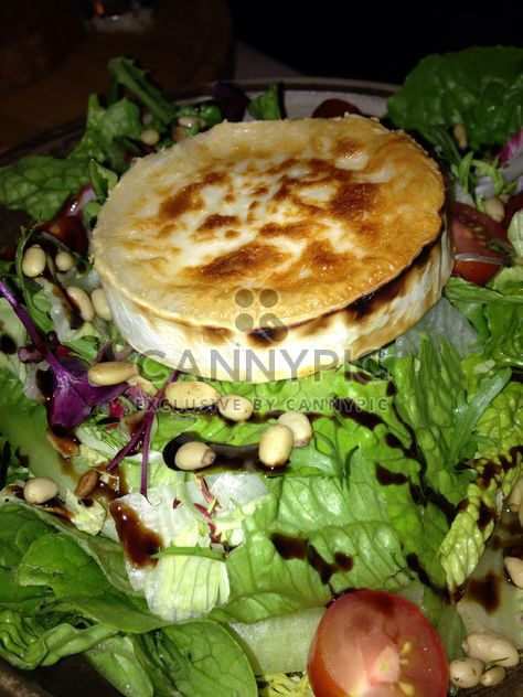 Dish with casserole, lettuce and beans - Free image #185693