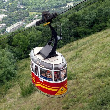 Cableway transport people to Mashuk Mount - бесплатный image #186203