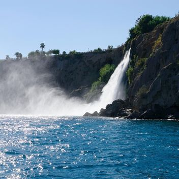 Landscape with waterfall in Antalya - Free image #186293