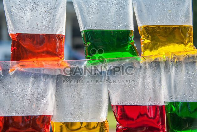 Colored water in plastic bags - Free image #186393