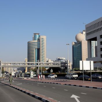 Architecture and transport on Union square in Dubai - Free image #186693