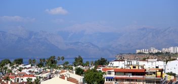 View on mountains and architecture of Antalya - бесплатный image #186713