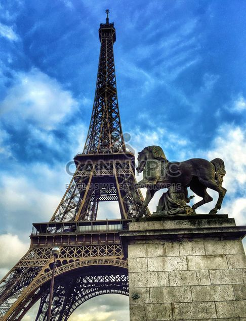Eiffel Tower and Horse Sculpture - Free image #186833