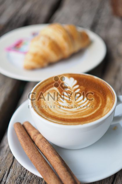 Coffee latte art with cinnamon - Free image #187063