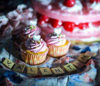 Beautiful cupcakes for Valentine's Day - бесплатный image #187393