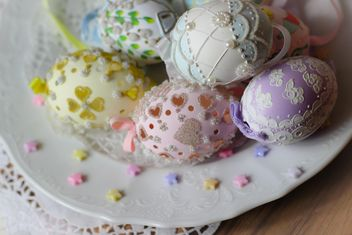 Easter cookies and decorative eggs - image #187583 gratis