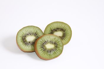 kiwi close up on white background - image gratuit #187833