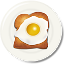 Egg Toast Breakfast - icon gratuit #188863