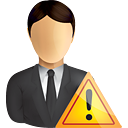 Business User Warning - icon gratuit #190803