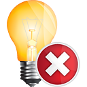 Light Bulb Delete - Free icon #191123