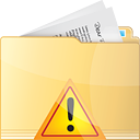 Folder Warning - icon #191323 gratis