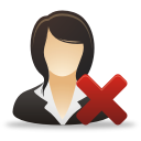 Remove Businesswoman - Free icon #192043