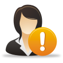 Businesswoman Warning - icon gratuit #192073