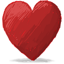 Red Heart - icon gratuit #193123