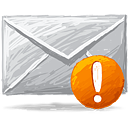 Mail Warning - icon gratuit #193343