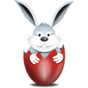 Bunny In Egg Red - Free icon #193873