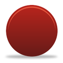 Red Button - icon gratuit #194333