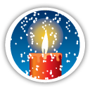 Merry Christmas Candle - icon gratuit #194663