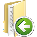 Folder Previous - icon gratuit #195353