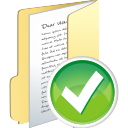 Folder Full Accept - icon gratuit #196293