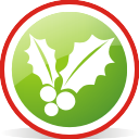 Christmas Mistletoe Rounded - Kostenloses icon #197053