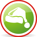 Santa Hat Rounded - icon gratuit #197063