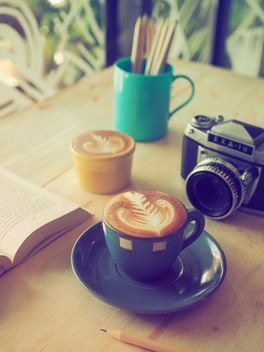 Coffee latte on breakfast - бесплатный image #197883