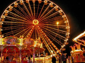 Ferris wheel night view - Free image #198153