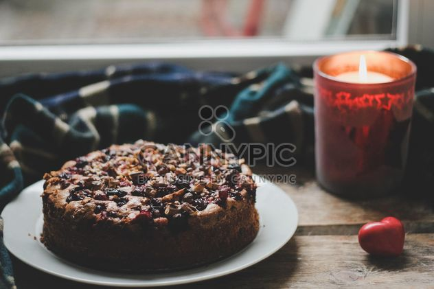 Cherry pie with nuts - image #198473 gratis
