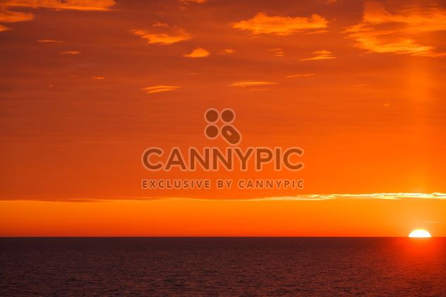 red sunset at sea - Free image #198573
