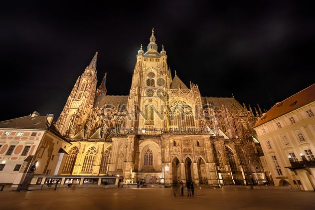 cathedral in czech republic at night,st. vitus cathedral - Free image #198613