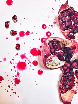 Pomegranate juice and pomegranate - image gratuit #198983