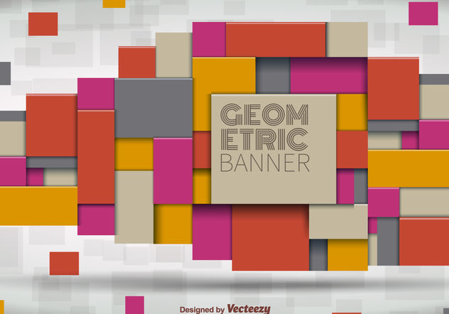 Geometrical Banner - Free vector #199223