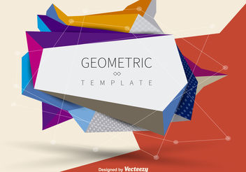 Geometric banner - Free vector #199233