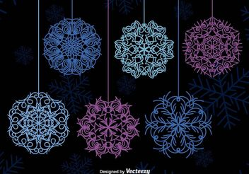 Winter snowflakes - Free vector #199243